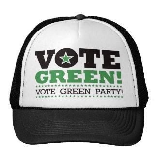 Vote Green Vote Green Party Mesh Hat