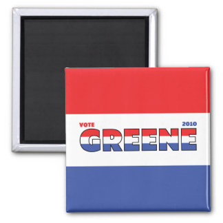 Vote Greene 2010 Elections Red White and Blue Square Magnet