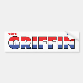 Vote Griffin 2010 Elections Red White and Blue Car Bumper Sticker