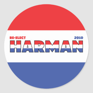 Vote Harman 2010 Elections Red White and Blue Sticker