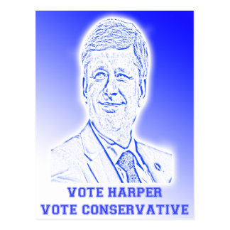 Vote Harper Vote Conservative Postcard