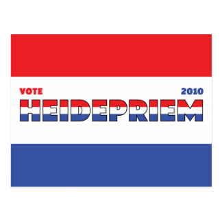 Vote Heidepriem 2010 Elections Red White and Blue Postcard