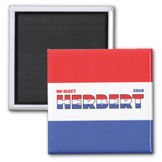 Vote Herbert 2010 Elections Red White and Blue Square Magnet