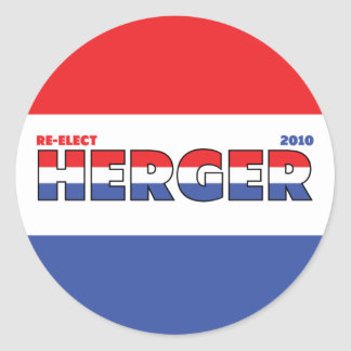 Vote Herger 2010 Elections Red White and Blue Round Sticker