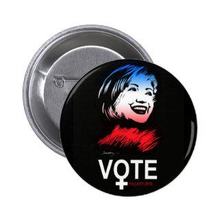 vote HILLARY 2016 6 Cm Round Badge