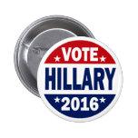 Vote Hillary 2016 Pin