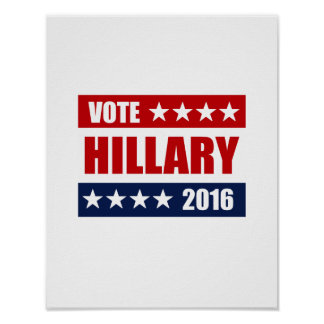 VOTE HILLARY 2016 png Posters