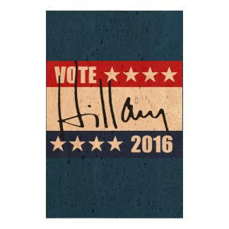 VOTE HILLARY CLINTON 2016 CORK PAPER