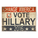 Vote Hillary Clinton 2016 Election Greetings Greeting Card