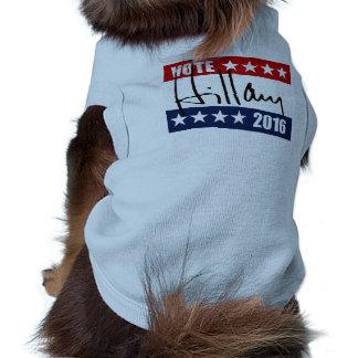 VOTE HILLARY CLINTON 2016 SLEEVELESS DOG SHIRT