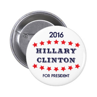 Vote Hillary Clinton for President 2016 Button