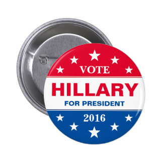 Vote Hillary Clinton for President 2016 Campaign 6 Cm Round Badge
