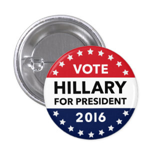 Vote Hillary Clinton for President 2016 Pin 1""