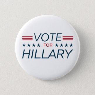 Vote Hillary for President 2016 6 Cm Round Badge
