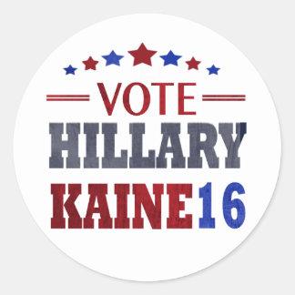 VOTE Hillary Kaine - Election 2016 Classic Round Sticker