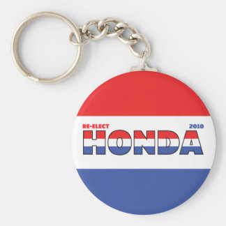 Vote Honda 2010 Elections Red White and Blue Basic Round Button Key Ring