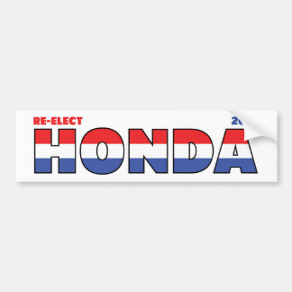 Vote Honda 2010 Elections Red White and Blue Bumper Sticker