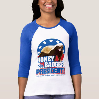 Vote Honey Badger For President T-Shirt