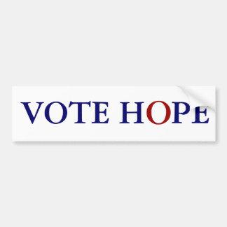 VOTE HOPE BUMPER STICKER