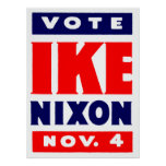 Vote Ike, Nixon in 1952 Poster