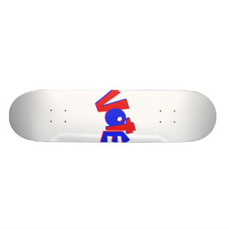 VOTE in red and blue text bouncy election swag 20.6 Cm Skateboard Deck