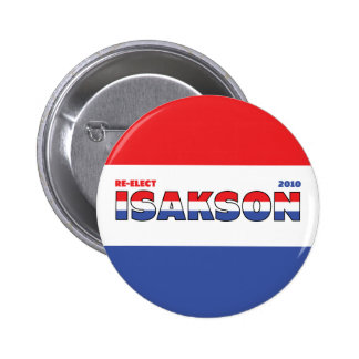 Vote Isakson 2010 Elections Red White and Blue 6 Cm Round Badge