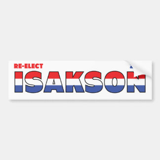 Vote Isakson 2010 Elections Red White and Blue Bumper Sticker