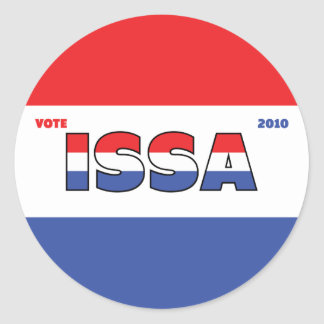 Vote Issa 2010 Elections Red White and Blue Sticker