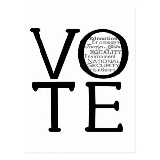 Vote Issues Post Card