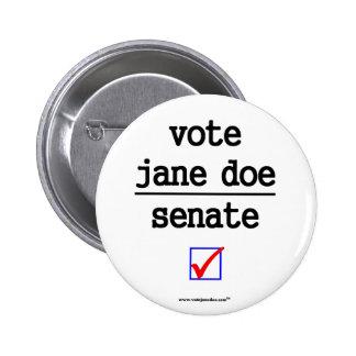Vote Jane Doe Senate Campign Button