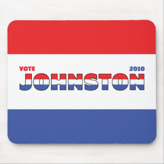Vote Johnston 2010 Elections Red White and Blue Mouse Pad