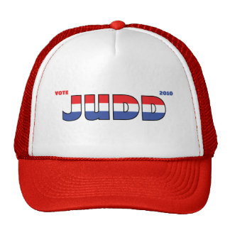 Vote Judd 2010 Elections Red White and Blue Cap