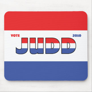 Vote Judd 2010 Elections Red White and Blue Mouse Pads