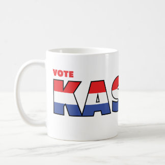 Vote Kasich 2010 Elections Red White and Blue Mugs
