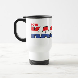 Vote Kasich 2010 Elections Red White and Blue Mug