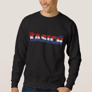 Vote Kasich 2010 Elections Red White and Blue Pull Over Sweatshirt