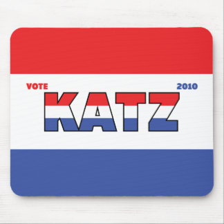 Vote Katz 2010 Elections Red White and Blue Mousepad