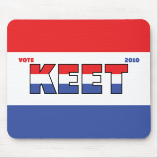 Vote Keet 2010 Elections Red White and Blue Mousepads