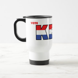 Vote Keet 2010 Elections Red White and Blue Stainless Steel Travel Mug