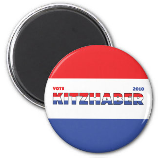 Vote Kitzhaber 2010 Elections Red White and Blue 6 Cm Round Magnet