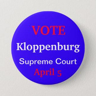 Vote Kloppenburg 7.5 Cm Round Badge