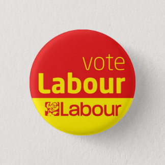 Vote Labour Party Button Badge General Election