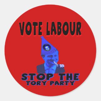 Vote Labour Round Sticker