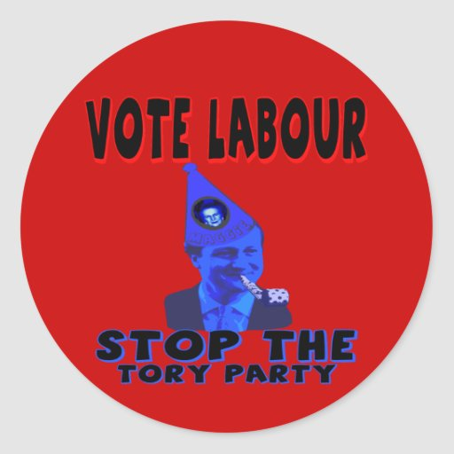 Vote Labour Stickers