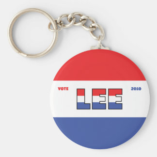 Vote Lee 2010 Elections Red White and Blue Key Chain