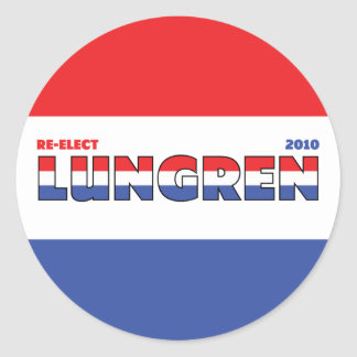 Vote Lungren 2010 Elections Red White and Blue Sticker