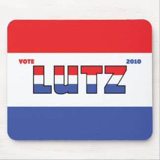 Vote Lutz 2010 Elections Red White and Blue Mousepad