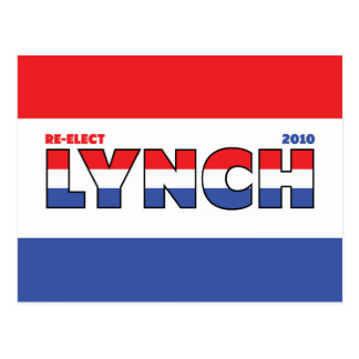 Vote Lynch 2010 Elections Red White and Blue Postcard