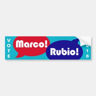 Vote Marco Rubio 2016 - Presidential Campaign Bumper Sticker