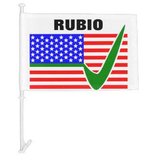Vote Marco Rubio for President 2016 Car Flag